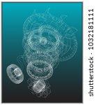 gear mechanism on turquoise...   Shutterstock .eps vector #1032181111