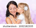 happy mother and child girl | Shutterstock . vector #1032182335