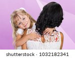 happy mother and child girl | Shutterstock . vector #1032182341