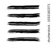 brush stroke set. texture. | Shutterstock .eps vector #1032182371