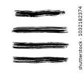 brush stroke set. texture. | Shutterstock .eps vector #1032182374