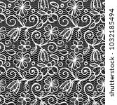 black and white lace seamless... | Shutterstock .eps vector #1032185494