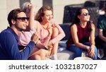 summer time. joyful handsome...   Shutterstock . vector #1032187027