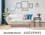 gallery of posters on white... | Shutterstock . vector #1032195451