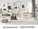 bright spacious living room... | Shutterstock . vector #1032195994