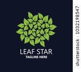 elegant simple leaf nature logo   Shutterstock .eps vector #1032198547