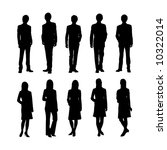 people silhouette | Shutterstock .eps vector #10322014