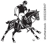 equestrian polo sport . player... | Shutterstock .eps vector #1032228547