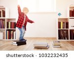 three years old child playing... | Shutterstock . vector #1032232435