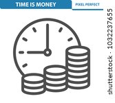 time is money icon.... | Shutterstock .eps vector #1032237655