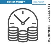 time is money icon.... | Shutterstock .eps vector #1032237661