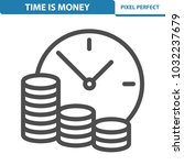 time is money icon.... | Shutterstock .eps vector #1032237679