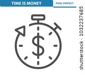time is money icon.... | Shutterstock .eps vector #1032237685