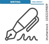 writing icon. professional ... | Shutterstock .eps vector #1032239809