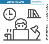working man icon. professional  ... | Shutterstock .eps vector #1032243229