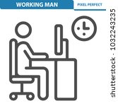 working man icon. professional  ... | Shutterstock .eps vector #1032243235