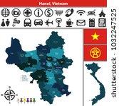 vector map of hanoi with named... | Shutterstock .eps vector #1032247525