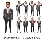 set of emotions and poses for... | Shutterstock .eps vector #1032251737