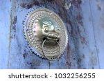 the door knocker  close up shot | Shutterstock . vector #1032256255