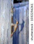 the door knocker  close up shot | Shutterstock . vector #1032256261