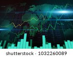 stock market or forex trading... | Shutterstock . vector #1032260089