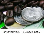 close up on thai baht coin with ... | Shutterstock . vector #1032261259