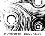 black and white liquid texture. ... | Shutterstock .eps vector #1032273199