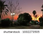 beautiful sunset near the... | Shutterstock . vector #1032273505