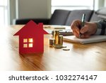 man counting house price  home... | Shutterstock . vector #1032274147