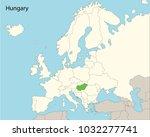 europe map  hungary | Shutterstock .eps vector #1032277741