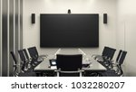 bright modern meeting room with ... | Shutterstock . vector #1032280207