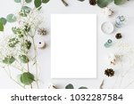 flat lay top view photo. mockup ... | Shutterstock . vector #1032287584