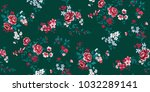 seamless floral pattern in... | Shutterstock .eps vector #1032289141