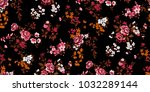 seamless floral pattern in... | Shutterstock .eps vector #1032289144