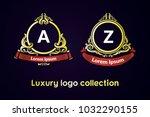classic logo style. alphabet... | Shutterstock .eps vector #1032290155