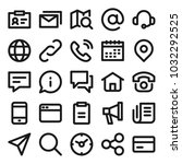 contact us related icons for... | Shutterstock .eps vector #1032292525