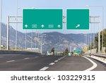 highway road sign   Shutterstock . vector #103229315