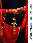 wedding knot at hindu wedding | Shutterstock . vector #1032293851