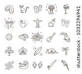 brazil icon set. flat design   Shutterstock .eps vector #1032296941