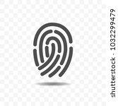 finger print icon design... | Shutterstock .eps vector #1032299479
