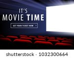 cimena screen view and interior ... | Shutterstock .eps vector #1032300664