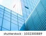 steel blue glass high rise... | Shutterstock . vector #1032300889