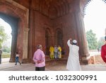 delhi  india   23 february 2018 ... | Shutterstock . vector #1032300991