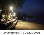 beautiful night landscape with... | Shutterstock . vector #1032302905
