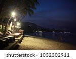 beautiful bokeh at night on the ... | Shutterstock . vector #1032302911