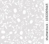 floral seamless pattern. hand... | Shutterstock .eps vector #1032305665