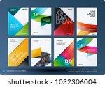material design of business...   Shutterstock .eps vector #1032306004