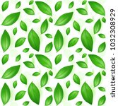 green young tea leaves on a... | Shutterstock .eps vector #1032308929