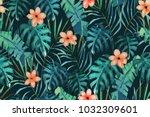 tropical seamless pattern. palm ...