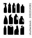household chemicals and... | Shutterstock .eps vector #1032314281